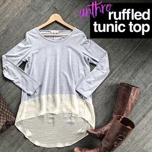 Anthropologie Lili's Closet Ruffled Tunic Top